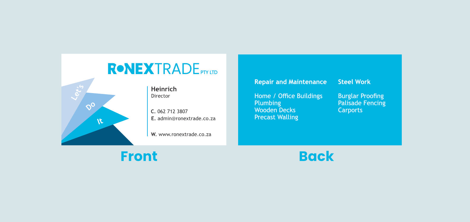RonexTrade Business Card